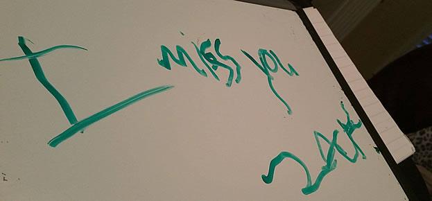 Erin's note to Zach